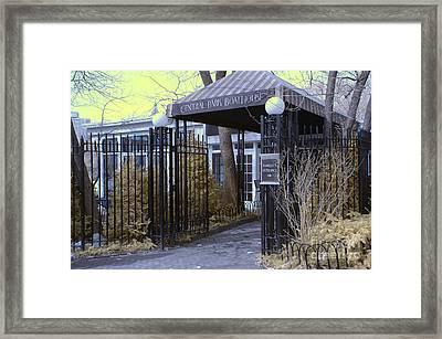 Central Park Boathouse Framed Print by Paul Ward
