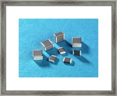Ceramic Capacitor Framed Print