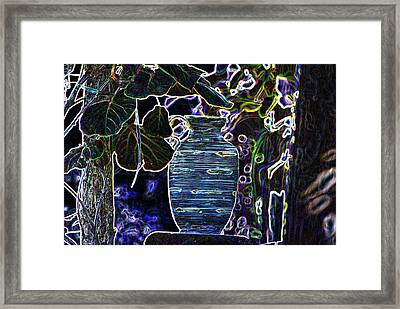 Still Life Wine Jar Framed Print by Dave Byrne