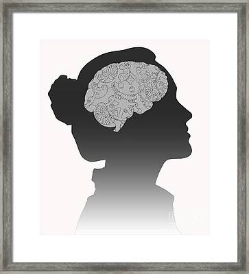 Cerebral Activity In Woman Framed Print
