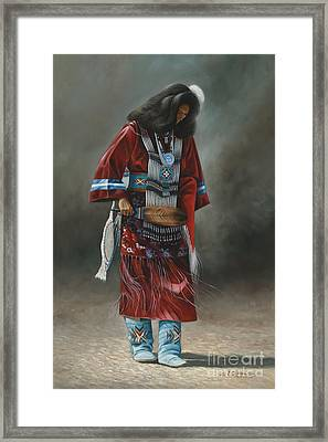 Ceremonial Red Framed Print by Ricardo Chavez-Mendez