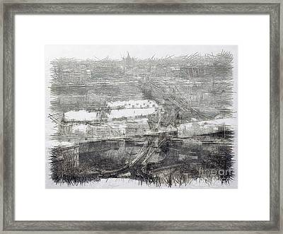Chain Bridge In Budapest Framed Print by Odon Czintos