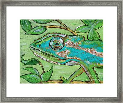 Chameleon Hitching A Ride Framed Print