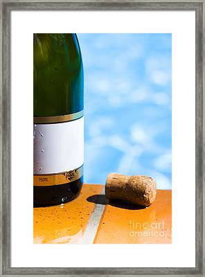 Champagne Bottle And Cork Framed Print