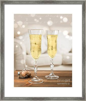 Champagne Celebration Framed Print by Amanda Elwell