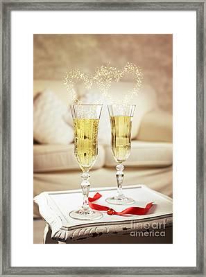 Champagne Framed Print by Amanda Elwell