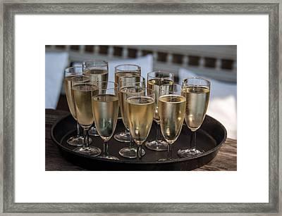 Champagne Flutes Framed Print by Frank Gaertner