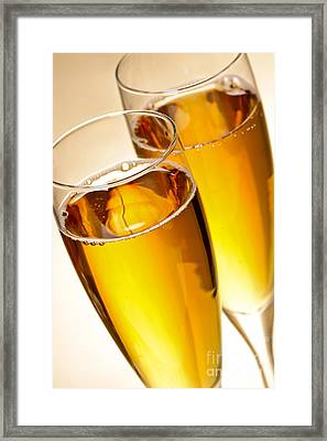 Champagne In Glasses Framed Print by Elena Elisseeva