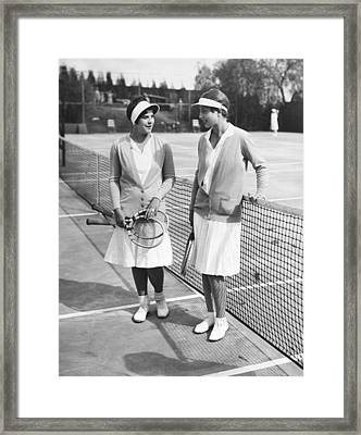 Champion Helen Wills Moody Framed Print