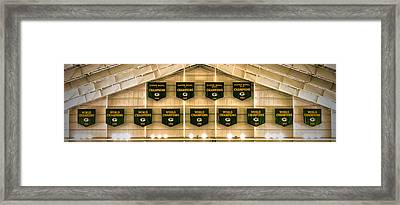 Championship Banners Framed Print by James  Meyer
