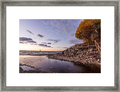 Champlain Twilight Framed Print by Jeremy Farnsworth