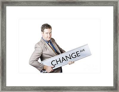 Change Ave. Business Improvement And Evolution Framed Print