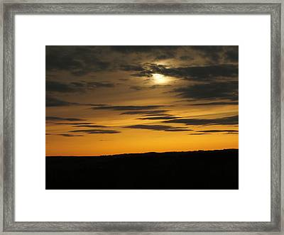 Framed Print featuring the photograph Changing Sky by Gene Cyr