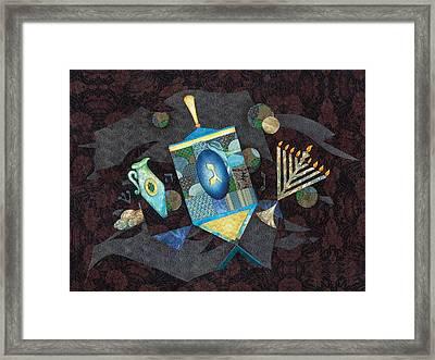 Chanukah Framed Print by Michoel Muchnik