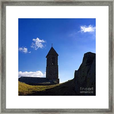 Chapel. Auvergne. France Framed Print