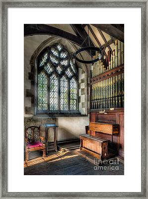 Chapel Organ Framed Print by Adrian Evans