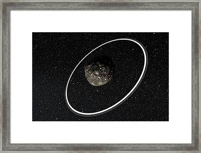 Chariklo Minor Planet And Rings Framed Print by European Southern Observatory