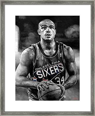 Charles Barkley Framed Print by Michael  Pattison