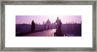 Charles Bridge Moldau River Prague Framed Print by Panoramic Images