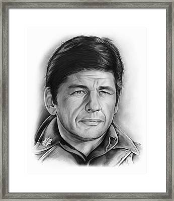 Charles Bronson Framed Print by Greg Joens