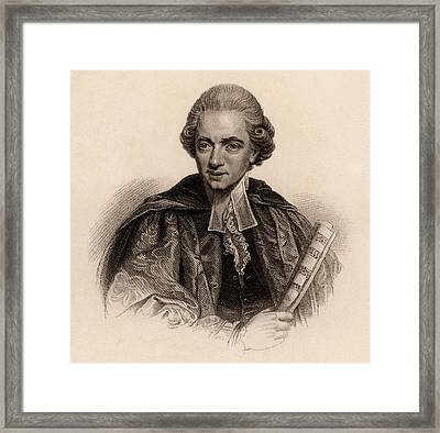 Charles Burney Framed Print by Universal History Archive/uig