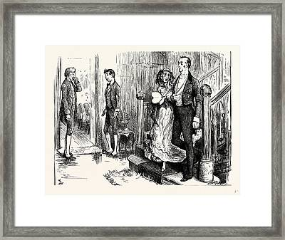 Charles Dickens Dombey And Son Framed Print by English School