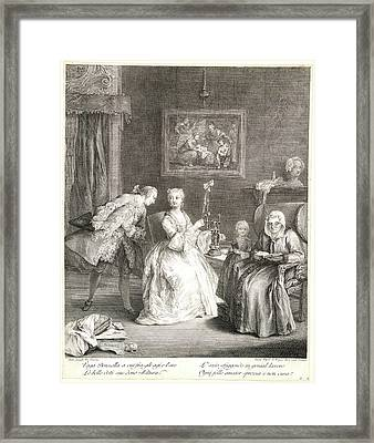 Charles Joseph Flipart French, 1721-1797 After Pietro Framed Print by Litz Collection
