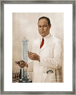 Charles R. Drew Framed Print by Science Source