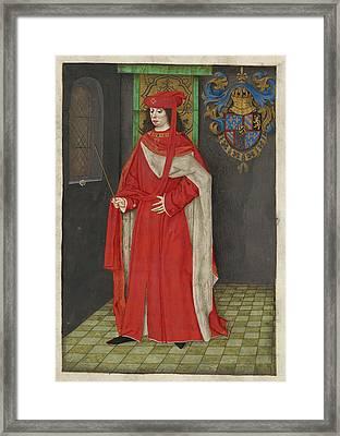 Charles The Bold Framed Print