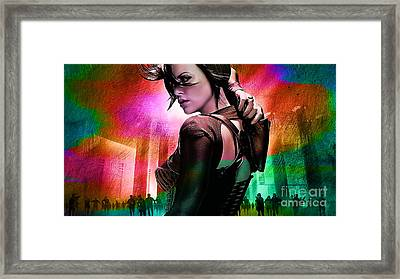 Charlize Theron  Framed Print by Marvin Blaine