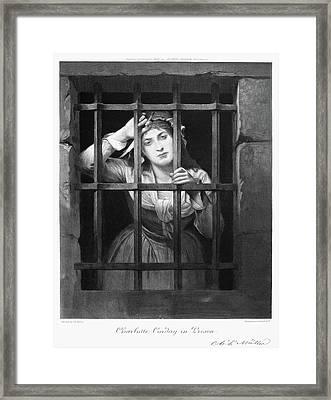 Charlotte Corday (1768-1793) Framed Print by Granger