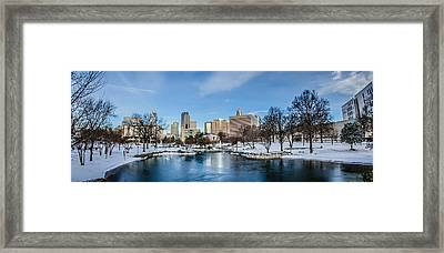 Charlotte Downtown Framed Print