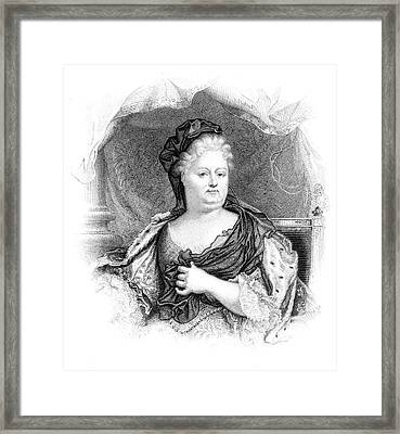 Charlotte-elisabeth Duchess Of Orleans Framed Print by Mary Evans Picture Library
