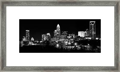 Charlotte Panoramic In Black And White Framed Print