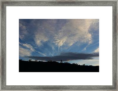 Framed Print featuring the photograph Chase The Moonlight by Tammy Espino