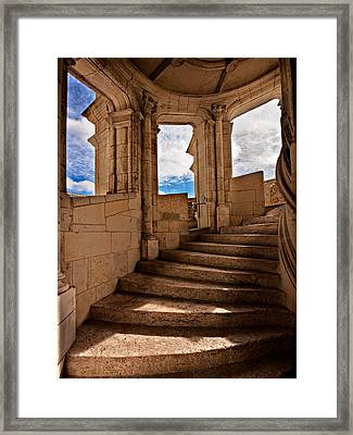 Chateau De Blois Staircase / Loire Valley Framed Print