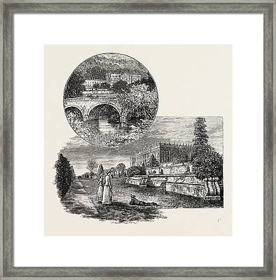 Chatsworth House Is A Stately Home In North Derbyshire Framed Print