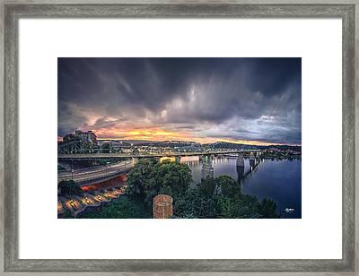 Chattanooga Sunset 4 Framed Print