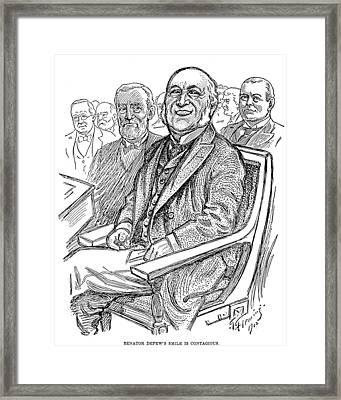 Chauncey Depew (1834-1928) Framed Print