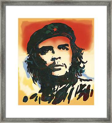 Che Guevara Stylised Modern Drawing Art Sketch Framed Print by Kim Wang