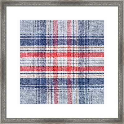 Checked Material Framed Print by Tom Gowanlock