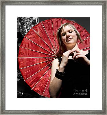 Cheerful Carnival Woman Framed Print by Jorgo Photography - Wall Art Gallery