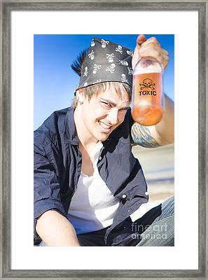 Cheers To Death Framed Print
