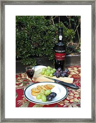 Framed Print featuring the digital art Cheese And Port by Helene U Taylor