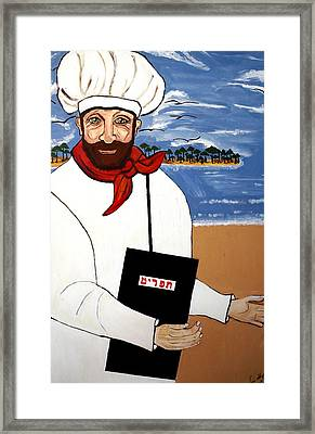 Framed Print featuring the painting Chef From Israel by Nora Shepley