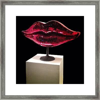 Chelsea Lips Framed Print by Natasha Marco