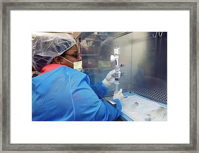 Chemotherapy Drug Preparation Framed Print by Jim West