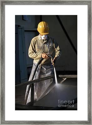 Chernobyl Decontamination Plant Framed Print by Patrick Landmann