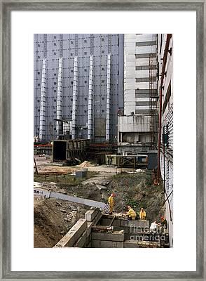 Chernobyl Disaster Shelter Maintenance Framed Print by Patrick Landmann