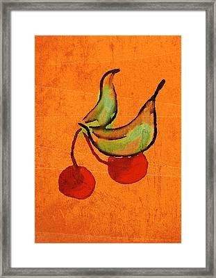 Cherries Framed Print by Brett Shand